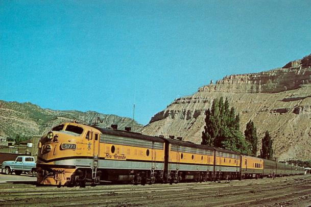 "The Denver & Rio Grande's ""Prospector"" passenger train."