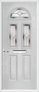 2 Panel 2 Square 1 Arch Composite Door regal sapphire glass