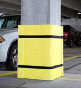 Park Sentry adds a soft, scratch-resistant layer of protection around concrete columns.