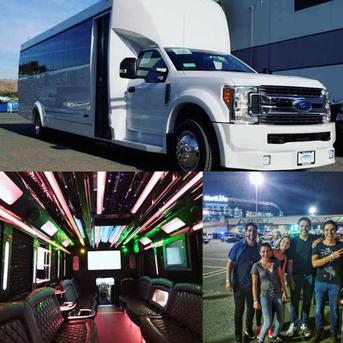 30 Passenger white Party Bus rental NY