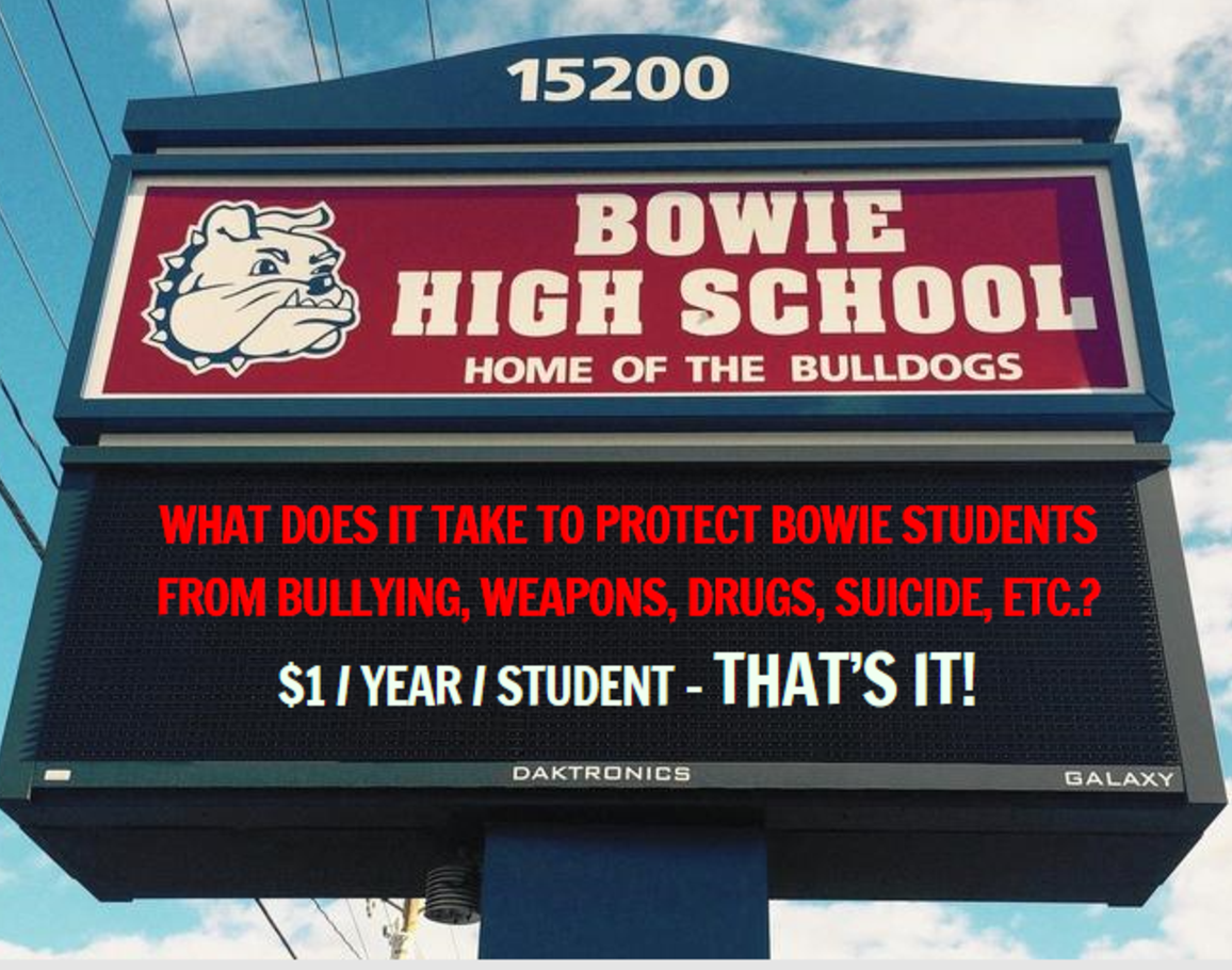 Bowie High School Sign