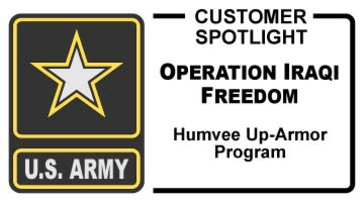 JT Series Refrigerated Compressed Air Dryers were used in the Operation Iraqi Freedom Humbee Up-Armor Program to increase protection on Humvees used in action.