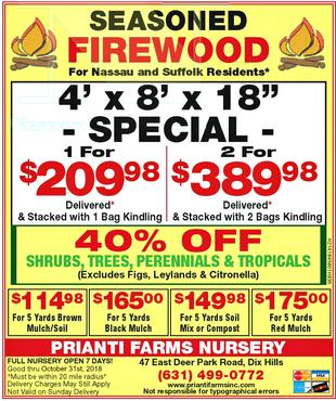 Firewood Mulch Soil Long Island Delivery Seasoned Suffolk Special