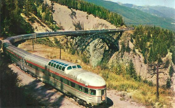The Canadian crossing Stoney Creek Bridge, highest bridge on the Canadian Pacific Railway. CP Photo.