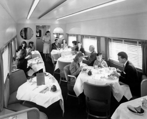 Dining on the C & O Pere Marquette in 1957.