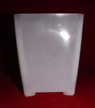 best clear plastic orchid pot 3.25 inch square slots small extra drainage air circulation no color