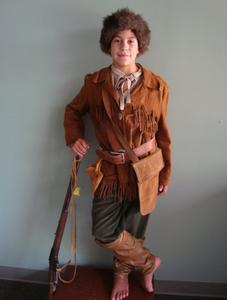 36c2ed2edf740 Davey Crockett, mountain trapper, or any other old west character would  have worn a vintage outfit similar to this rawhide leather costume.