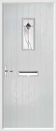 Cottage Rectangle Composite Door monza glass