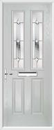 2 Panel 2 Square Composite Door regal diamond glass