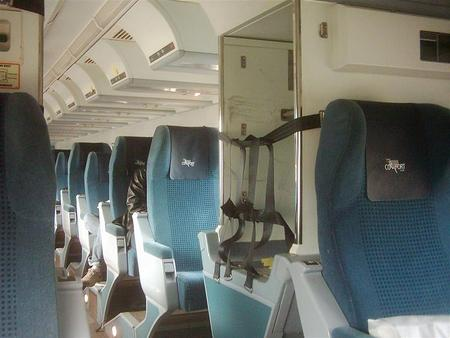 Comfort (now economy) class Renaissance coach used by Via Rail Canada. Taken aboard the Ocean in 2007.