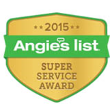 2015 angies list super service award winne!