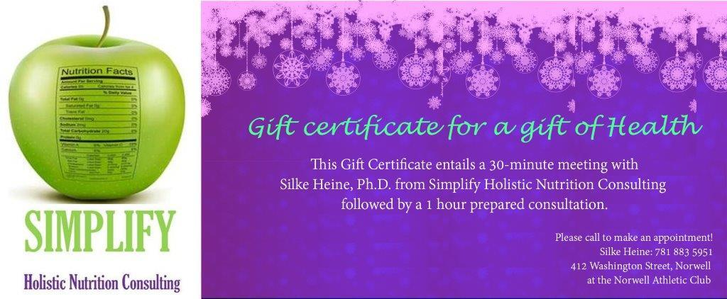 Simplify Gift Certificate 1