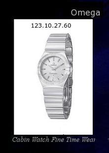 Product Specifications Watch Information Brand, Seller, or Collection Name Omega Model number 123.10.27.60.05.002 Part Number 123.10.27.60.05.002 Item Shape Round Dial window material type Anti reflective sapphire Display Type Analog Clasp Deployment Clasp Case material Stainless steel Case diameter 27 millimeters Case Thickness 9 millimeters Band Material Stainless steel Band length Women's Standard Band width 15 millimeters Band Color Silver Dial color Mother of pearl Bezel material Stainless steel Bezel function Stationary Item weight 15.84 Ounces Movement Quartz Water resistant depth 99 Feet