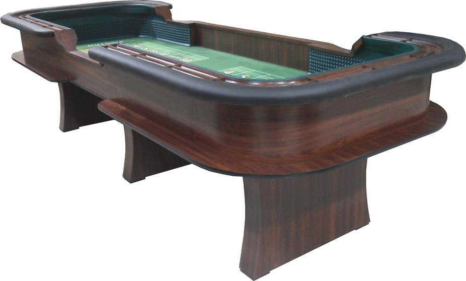 custom casino style 12 foot craps table manufactured by