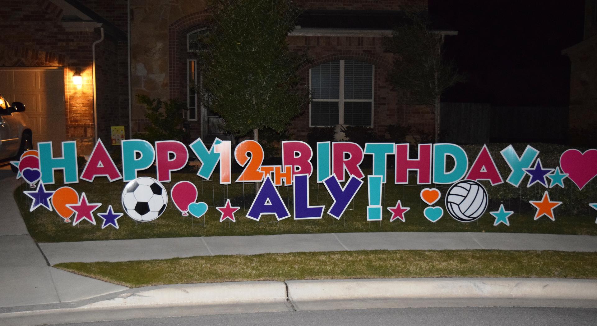 81 Happy Birthday Yard Decorations