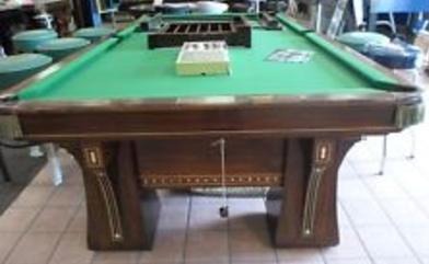 Antique Pool Tables - Brunswick commander pool table