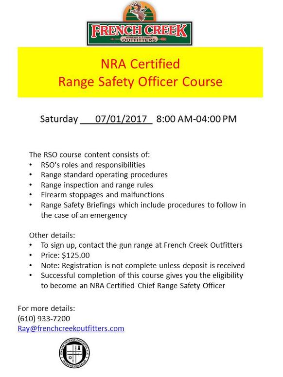 Nra Certified Range Safety Officer Training
