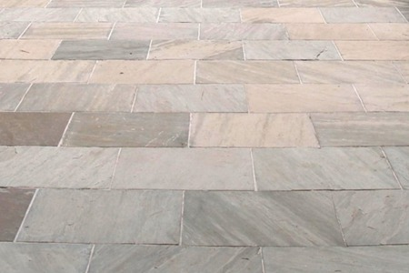 Blue Ice Sandstone Patterned Flagging & Coping Natural Stone