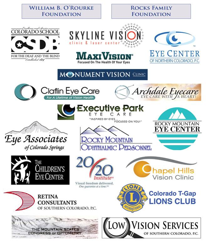 Page with logos and names of all of the STF Corporate Sponsors