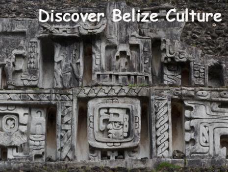 A Mayan frieze at a ruin site in Belize. Belize Adventure Tours