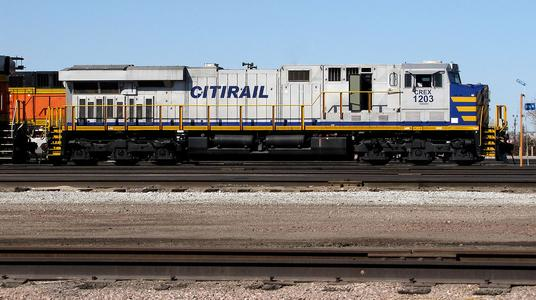 Citirail (CREX) ES44AC No.1203 at Lincoln, Nebraska in March of 2014.