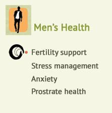 Men's health, Fertility support, Prostrate health, Stress management, Anxiety at Ondol Clinic, Toowong