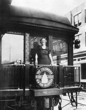 CBS Radio vocalist Harriet Lee aboard the new Columbian in June 1931.