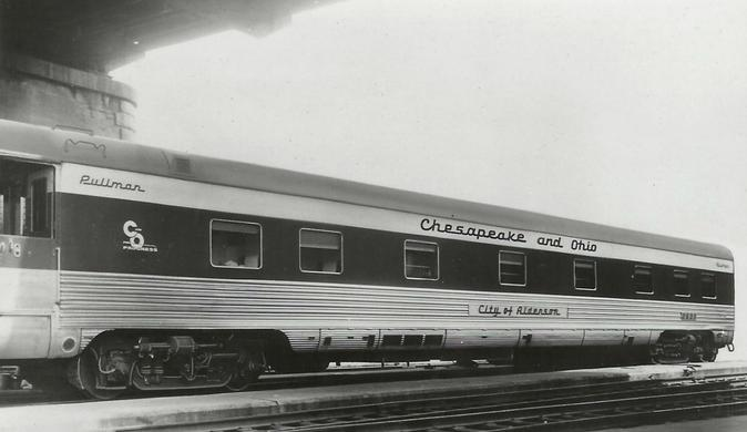 Pullman-built Chesepeake and Ohio sleeping car City of Alderson.