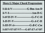 More G Major Chord Progressions