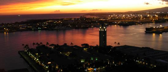J Stephen Street Aloha Tower Sunset