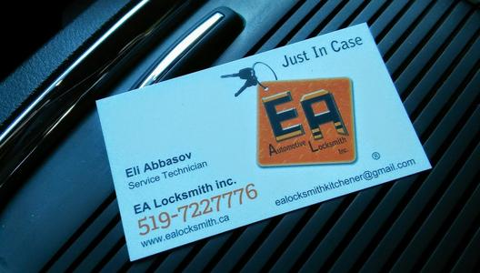 Old Business Card EA Locksmith