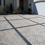 Large Driveway paved with Gray Hollandstone™ Driveway Pavers