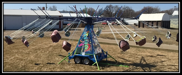 cyclone swing amusement park ride for sale in action
