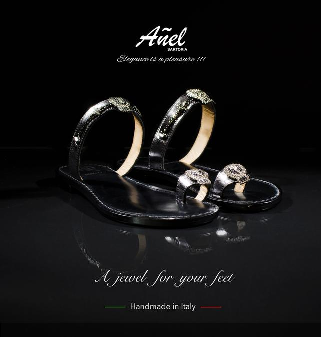 "Our Añel ""sandali"". Designed by Italian ArtistsMade by Italian Master Artisans. The result.... a unique Jewelfor a passionate Woman."