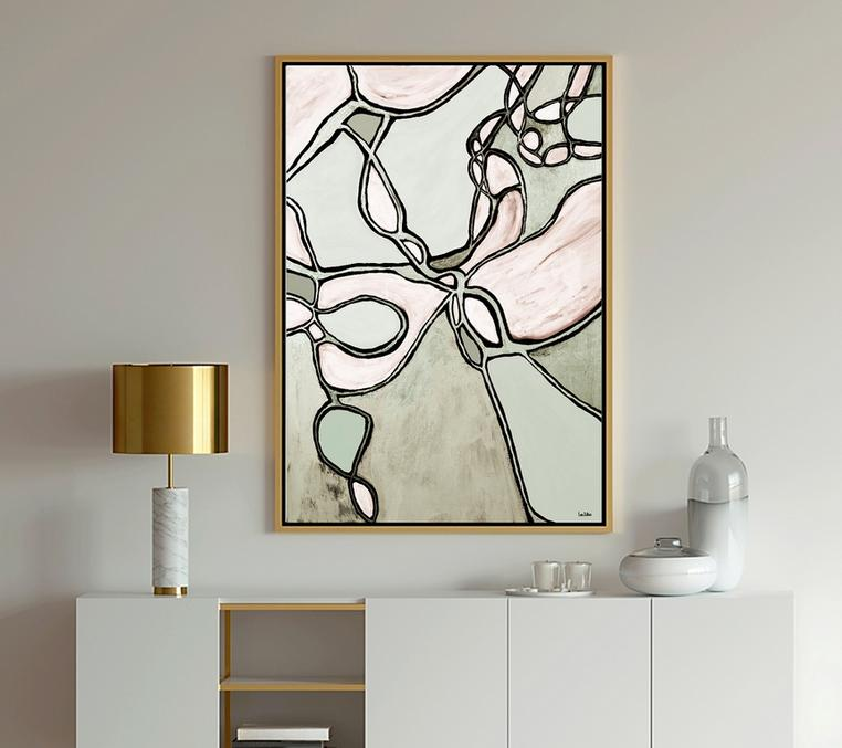 Modern Art, Abstract Art, Mocha Latte, dubois art, lori dubois art, abstract art, blue art