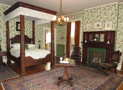 Mr. Cruikshank's Chamber, a Bed and Breakfast room at Rockcliffe Mansion in Hannibal Missouri