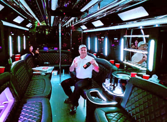 Party Bus interior New Years Eve Parties, NYC