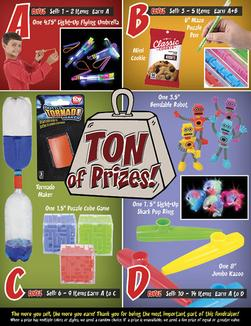 Tons of Prizes Elementary School Prize Brochure