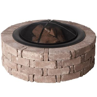 Round Rumble Stone Fire Pit. Stainless Steel insert not shown - Fire Pits