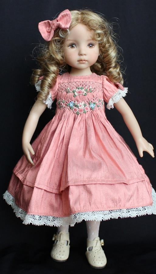 dolls with hair to style smocked amp embroidered silk for dianna effner s 13 4493