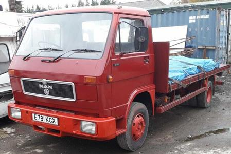 1988 MAN VW TRUCK 6.9L 7.5 TON IN RUNNING ORDER & HAS JUST BEEN PAINTED