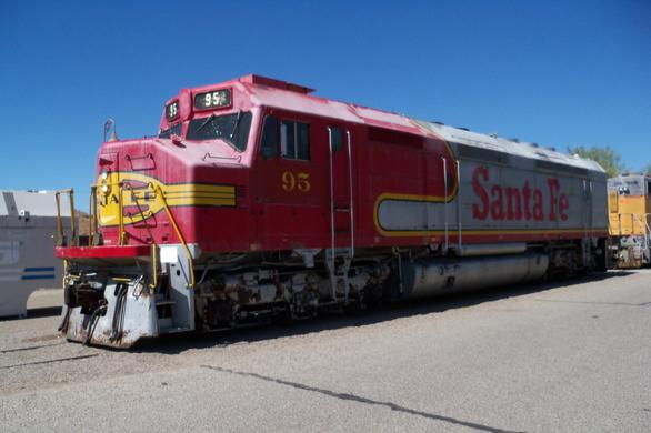 Santa Fe FP45 No. 95 at the Western America Railroad Museum in Barstow, California.