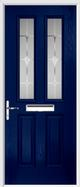 2 Panel 2 Square Composite Door sandblast glass
