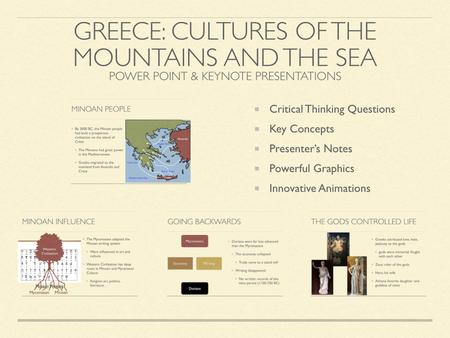 Greece: Cultures of the Mountains and The Sea Presentation
