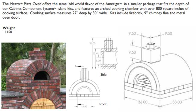 Stoneage Mezzo Masonry Oven, Pizza Oven, Brick Oven Massachusetts