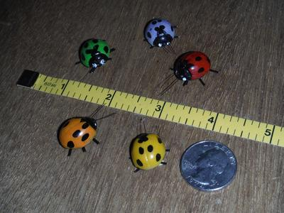 decorative ladybug plant stickies, nursery stickies, stick ons