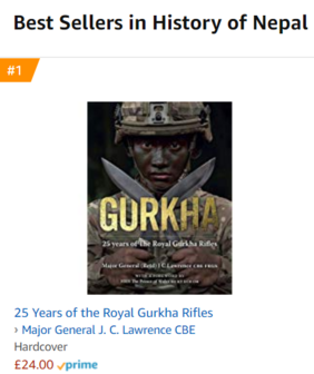 Amazon best selling book on Gurkhas