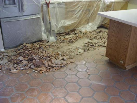 tile removal crew