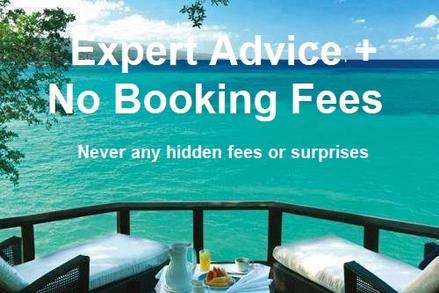 Expert travel advice + no booking fees
