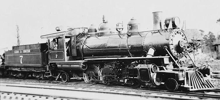 Caddo and Choctaw 2-6-2 No. 7.